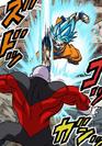 Goku Blue Kaioken punches Jiren