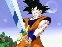 Goku con la espada Z