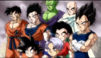 Z-Fighters stands in front of the Majin Buu threat in Dragon Ball Z Kai The Final Chapters Ending (True HD) - Never give up 1