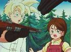 Gohan and Lime at gunpoint