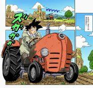 Dragon ball super manga cap 1 - goku sul trattore