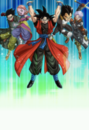 Super Dragon Ball Heroes World Mission - Card Background - Subspace Summon; Warriors of Justice