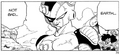 DXRD Caption of Mecha-Frieza lands on Earth next to King Cold soldiers (Dragon Ball Manga chapter 136 - The Coming of King Cold)