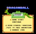 Dragon Ball Shenron no Nazo - Pantalla de título