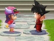 Arale y Goku en DBO2