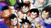 Z-Fighters charge to attack in Dragon Ball Z Kai The Final Chapters Ending (True HD) - Never give up