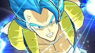 Gogeta Supersaiyano Dios Supersaiyano Evolucionado en el juego de arcade Super Dragon Ball Heroes