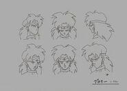 Sketch DBZ11 Broly (caras)