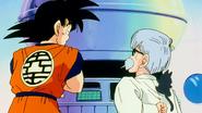 Dr. Brief spiega a Goku i comandi della navicella