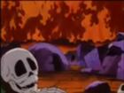 Esqueleto en la montaña