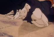 Teen gohan fells to ground dead
