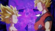 Caulifla y Goku SSJ2 Vista Kale 2