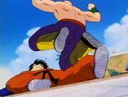 Tien breaks Yamcha's leg.jpg