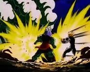 Gohan tries to destroy the cocoon