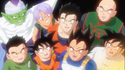 Goku's imagination of the Z-Fighters in Dragon Ball Z - Battle of Gods