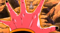 The Old Kai's Weapon - Buu about to blast Bee
