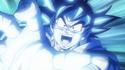 Goku firing a Kamehameha