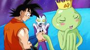 Son Goku stringe per errore l'organo riproduttivo del Re della Galassia