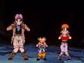 Goku, Trunks, Pan dancing