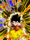 Dokkan Battle Full-On Strike Goku (Youth) (Great Ape) card (Base Form)