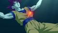 Goku falls in the Sea