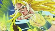 Goku ssj3 tratando de controlar su kii