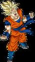 Super Dragon Ball Heroes World Mission - Character Sticker - Goku (Super Saiyan, Berserk)