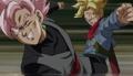 Trunks rage vs Black Goku