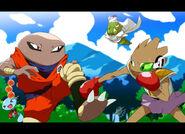 Pokemon DBZ Showdown by EiffelArt