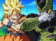 Goku SSJ VS Cell Perfecto