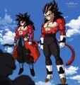 Goku Xeno e Vegeta Xeno ss4