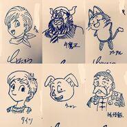 Toyotaro draws the DB Universe cast (24-10-2016)