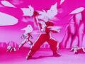 Goku deflecting Frieza's Barrage Death Beam