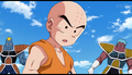 DXRD Caption of Krillin listens to Master Roshi about Frieza soldiers being pathetic weaklings in Dragon Ball Super episode 21