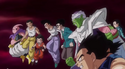 Z-Warriors in their GT ages facing Ice Shenron, Dragon Ball Heroes (DXRD)