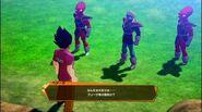 DBZ Kakarot - Frieza Force remnants (2 Appule's race bouncers) attack Badman Vegeta 2