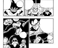 Raditz racconta dello stato di Oozaru manga