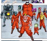 Grupo de Bandidos Galácticos a color