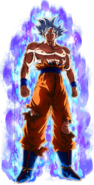 Doctrina egoísta Son Goku Dokkan Artwork con aura