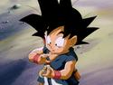 Goku about to do Kamehameha