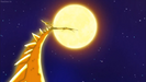 Super Shenron encircling a nearby star