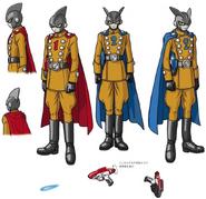 Arte conceptual del nuevo personaje de DBS Superhéroe