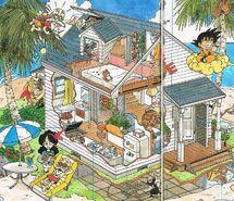 Plano interno y externo de Kame House