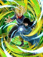 Dokkan Battle Mortal Pride Super Saiyan Trunks (Future) & Mai (Future) card (SSJ Future Trunks & Future Mai Evil Containment Wave UR)