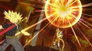 Rage Trunks vs Golden Cooler