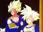 Goku y Gohan al salir