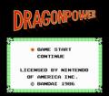 Dragon Power - Pantalla de título