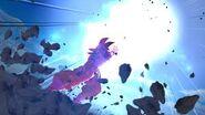 Goku kaioken lanza el kamehameha