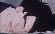 Teen gohan fail floor after being over powered defeated and killed by turles5
