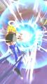 Super Gogeta fires a Super Kamehameha